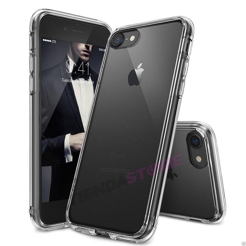 Funda carcasa TRANSPARENTE para iPhone 7 flexible silicona