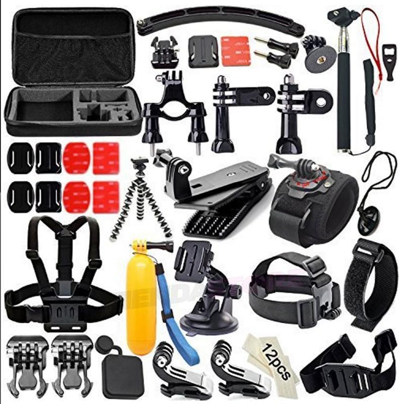 Kit de accesorios 50 EN 1 para Gopro y SJCAM sj5000 sj4000 sj6000 y Xiaomi