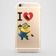 Funda iPhone 6 I Love Minions Transparente