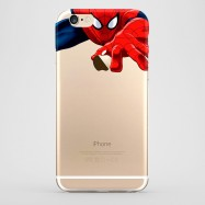 Funda iPhone 6 Spiderman Transparente