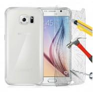 Funda Transparente ULTRAFINA Galaxy S6 TPU + Protector Cristal Templado
