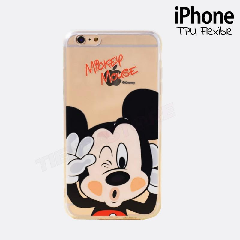 Funda iPhone 6 MICKEY Transparente y flexible