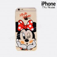 Funda iPhone 6 MINNIE Transparente y flexible