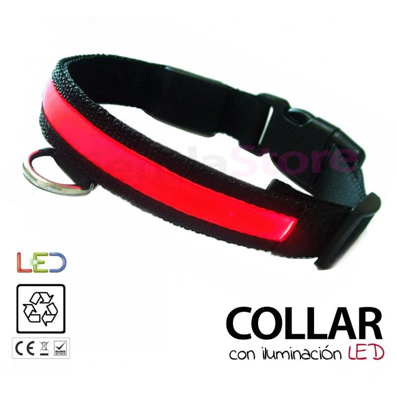 Collares luminosos LED para perro