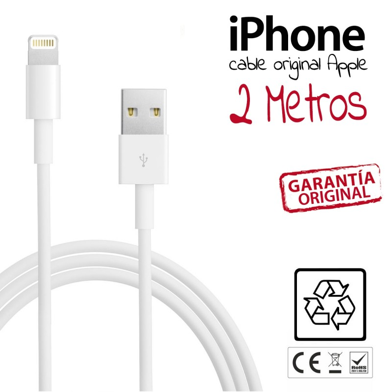 Cable iPhone 6 ORIGINAL APPLE 2 metros