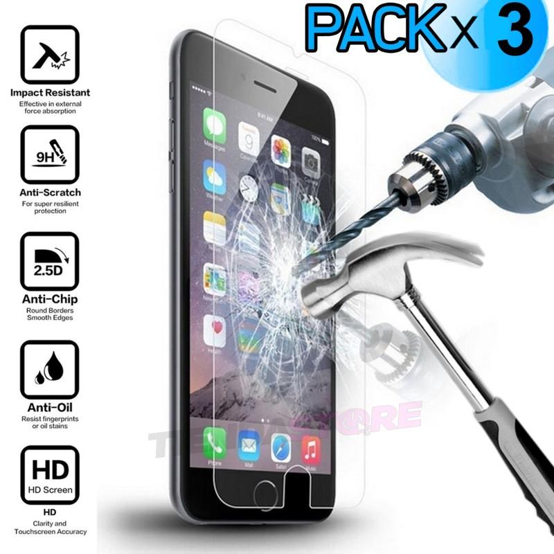 Protector de pantalla iPhone 7 Cristal templado antigolpes