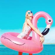 Flotador Hinchable Gigante Flamenco Rosa 120cm  Playa, Relax
