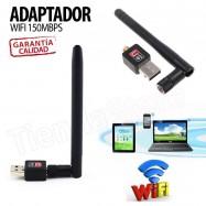 Adaptador WIFI USB 2.0 150MBPS 802.11N CON ANTENA