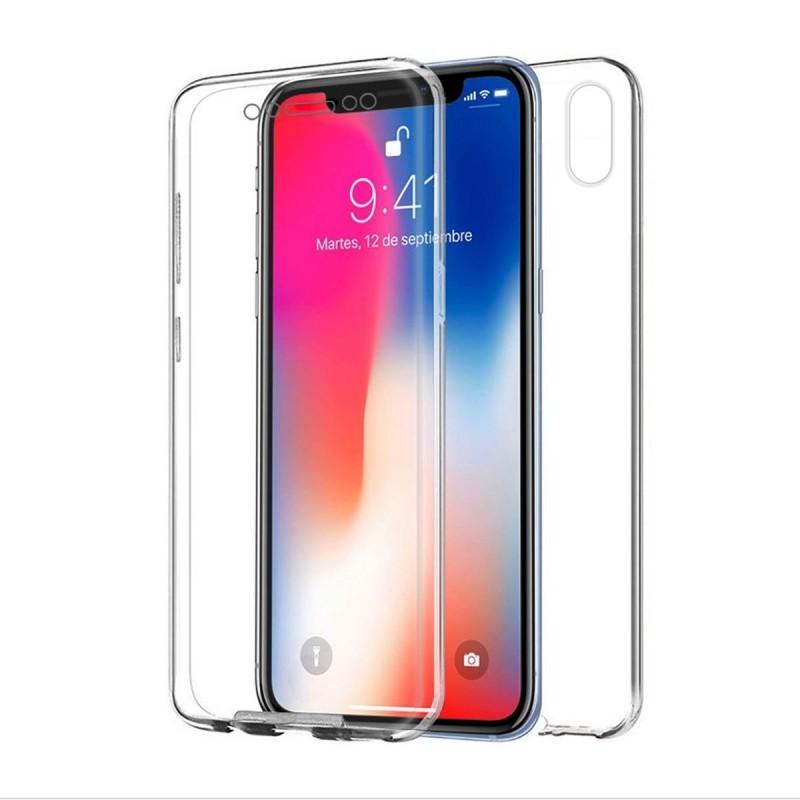 1efbc33eb03 Funda Transparente Para Iphone X 58 Protección Delantera Trasera 360