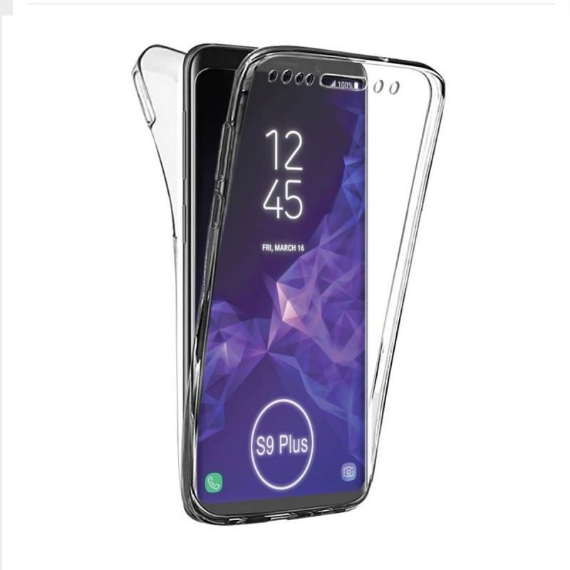 fb37e8565d8 Funda Doble de silicona transparente funda para Samsung Galaxy S9 Plus