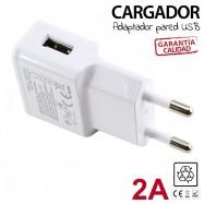CARGADOR DE PARED USB 2A + CABLE MICRO-USB