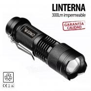 MINI LINTERNA LED TÁCTICA DE ALTA POTENCIA 300 Lm.