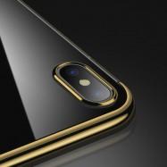 Funda para iPhone XS Hybrid metalizada de colores