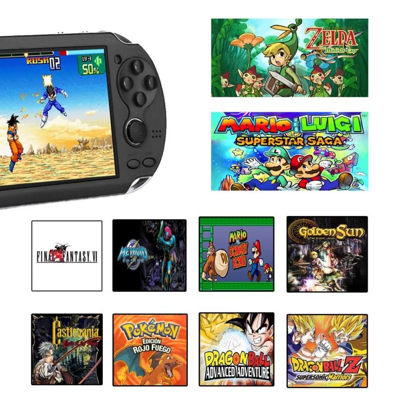 Consola  portátil retro con 3000 juegos arcade