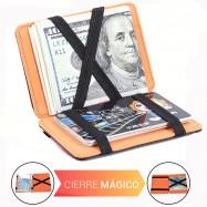 cartera mágica con cierre mágico para tarjetas y billetes