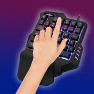 Teclado gaming gamer con retroiluminación con ratón gamer inalámbrico