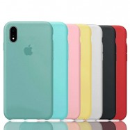 Fundas de Apple para iPhone 6 6s 7 8 X XS XR con logo silicona suave