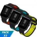 Correa de silicona Lemfo para Xiaomi Amazfit bip en pack de 3 colores