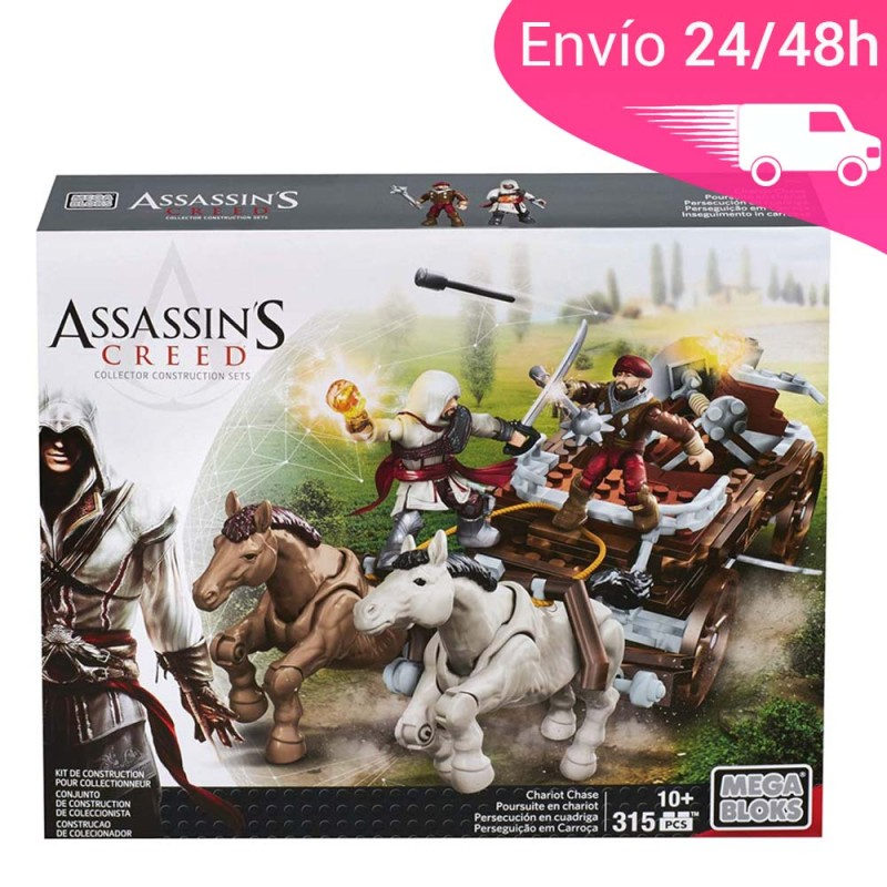 Mega bloks de assassins creed persecuciones de cuádrigas Ezio Auditore