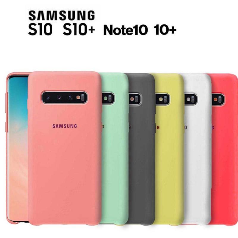 Funda oficial Samsung de silicona para Samsung Galaxy S10 S10 Plus Note 10 Note 10 +