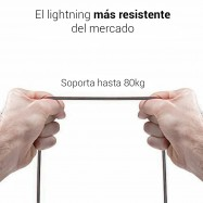 lightning cable para iPhone 8 pines de Apple con tejido nylon