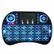 Miniteclado touchpad teclado inalámbrico con luz LED para smart tv consola