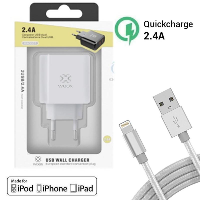 Cargador de carga rápida para Apple iPhone con lightning trenzado de 8 pines para carga y datos