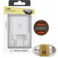 Cargador de carga rápida para móvil iPhone con cable tipo C o micro USB para Samsung, Xiaomi, Huawei, Oppo