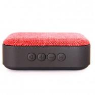 Mini altavoz bluetooth con ranura para tarjetas SD y puerto USB control de reproducción.