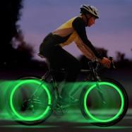 Luces LED de colores para rueda de bicicletas bombilla para bici iluminación