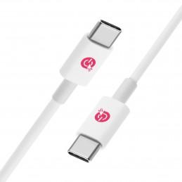Cable para carga rápida móvil USB tipo C PD qualcomm 4.0 quick charge para transferencia de datos y carga iPhone Android.