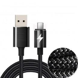 Cable de carga rápida y datos para móvil, tablet con conexión USB tipo C cable trenzado de nylon Huawei, Xiaomi, Samsung