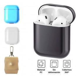 Funda carcasa protectora para AirPods 1 y 2 generación funda resistente contra golpes y caídas para los auriculares de Apple.