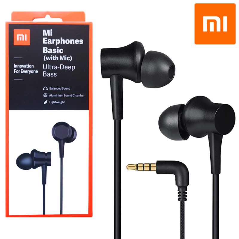 Mi earpods Xiaomi auriculares originales para móvil jack 3.5mm con micrófono y control de manos libres y llamadas.