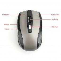 Ratón inalámbrico wireless con pincho USB 1600Dpi sin cables.