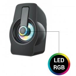 Altavoces LED para PC con conexión USB altavoz inalámbrico led para portátil gaming móvil y tablet.