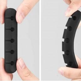 organizador de cables para escritorio clip con 5 compartimentos para separar cables adhesivo