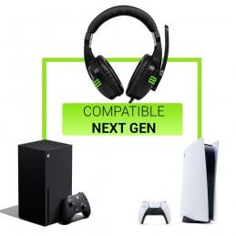 Auriculares bg gaming con jack 3.5mm y control de volumen. Cascos de diadema compatibles con ps4 ps5 xbox one x xbox series x.
