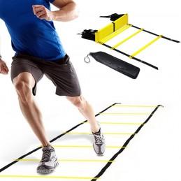 12 peldaños escalera de agilidad velocidad para fútbol entrenamiento 6 metros