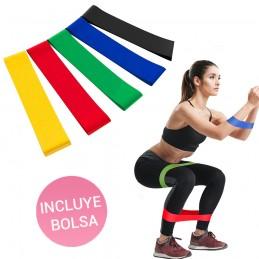 Bandas elásticas para fitness cintas de resistencia para ejercicios y entrenamiento en casa.