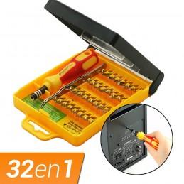 Destornillador de precisión con punta imantada 32 en 1