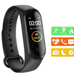 Smartband pulsera de actividad correa inteligente para medir pulso cardíaco, deporte, sueño impermeable.