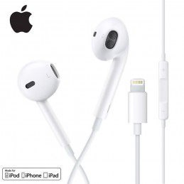 Earpods auriculares originales Apple con conexión lightning para iPhone 11, iPhone X, iPhone XR, iPad IOS