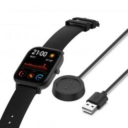 Cargador para Xiaomi Amazfit GTS smartwatch con conexión USB.