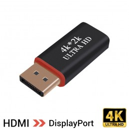 Adaptador hdmi 4k a DisplayPort para tv monitor