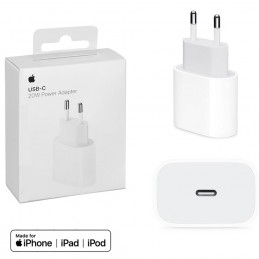 Cargador Apple original 20W usb c a lightning adaptador pared para iPhone 12 y iPad con carga rápida.
