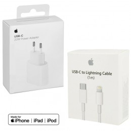 Pack de cargador 20W para iPhone con carga rápida con cable usb c a lightning cargador para iPhone 12