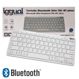 MINI TECLADO BLUETOOTH INALÁMBRICO PARA WINDOWS IOS ANDROID ESPAÑOL SMART TV