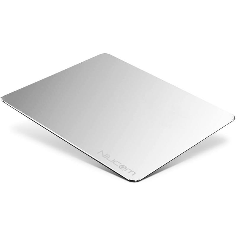 Alfombrilla de aluminio para ratón ultrafina antideslizante para gaming, oficina y teletrabajo. NIUCOM