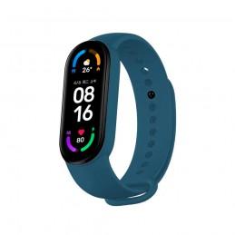 Correa de silicona flexible de color azul marino para Xiaomi Mi Band 6 pulsera de recambio para smartband impermeable xiaomi